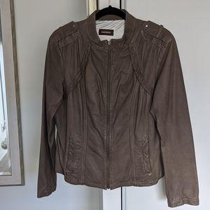 Daniel Leather Light Brown Sporty Moto Jacket